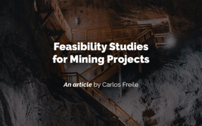 Feasibility studies for mining projects